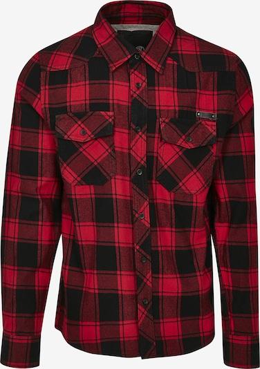 Brandit Hemd in rot / schwarz, Produktansicht
