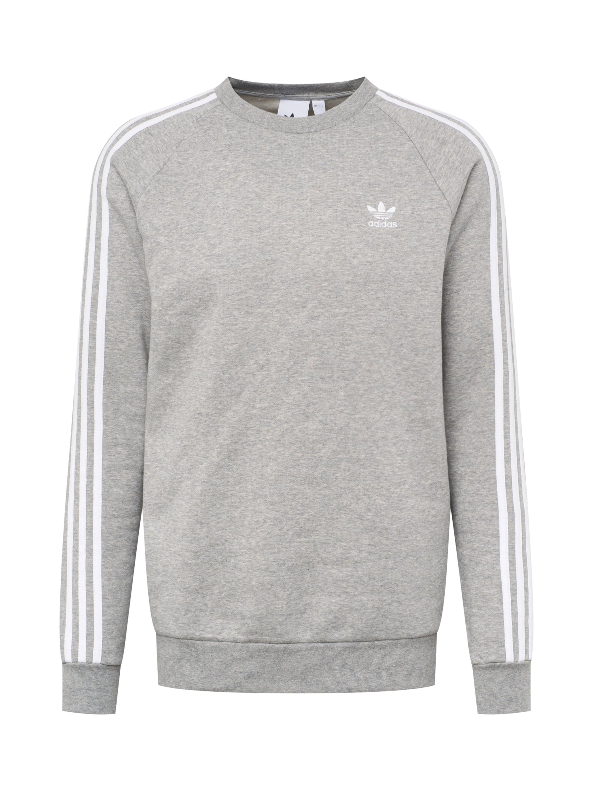 '3 Sweat streifen' Gris shirt En Clair Originals Adidas lFJc31KT