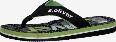 s.Oliver Junior Zehentrenner in schwarz, Produktansicht