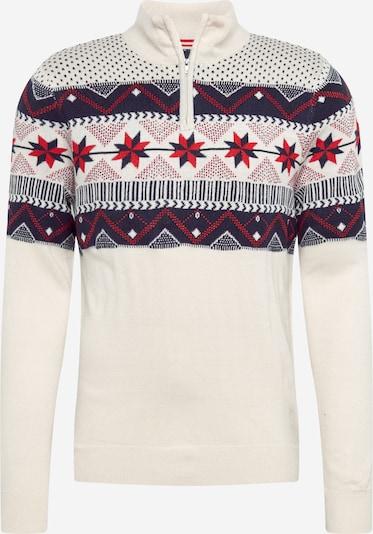 BURTON MENSWEAR LONDON Pullover 'Ecru Fairisle' in ecru, Produktansicht