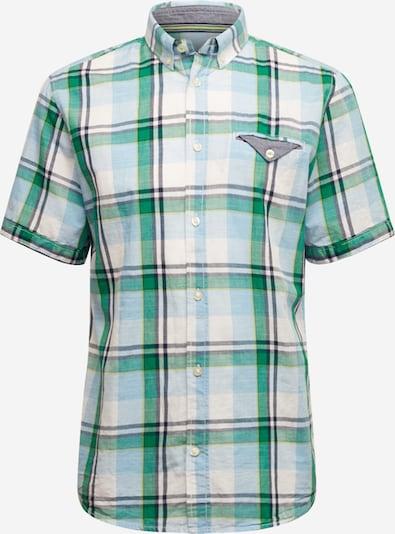 TOM TAILOR Overhemd in de kleur Azuur / Grijs / Groen, Productweergave