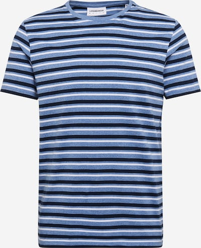 Lindbergh Poloshirt 'Striped mouliné tee S/S' in hellblau, Produktansicht