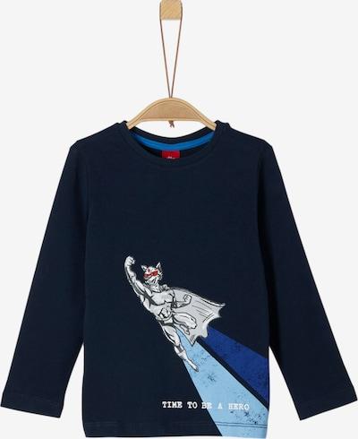 s.Oliver Shirt in nachtblau / hellblau, Produktansicht