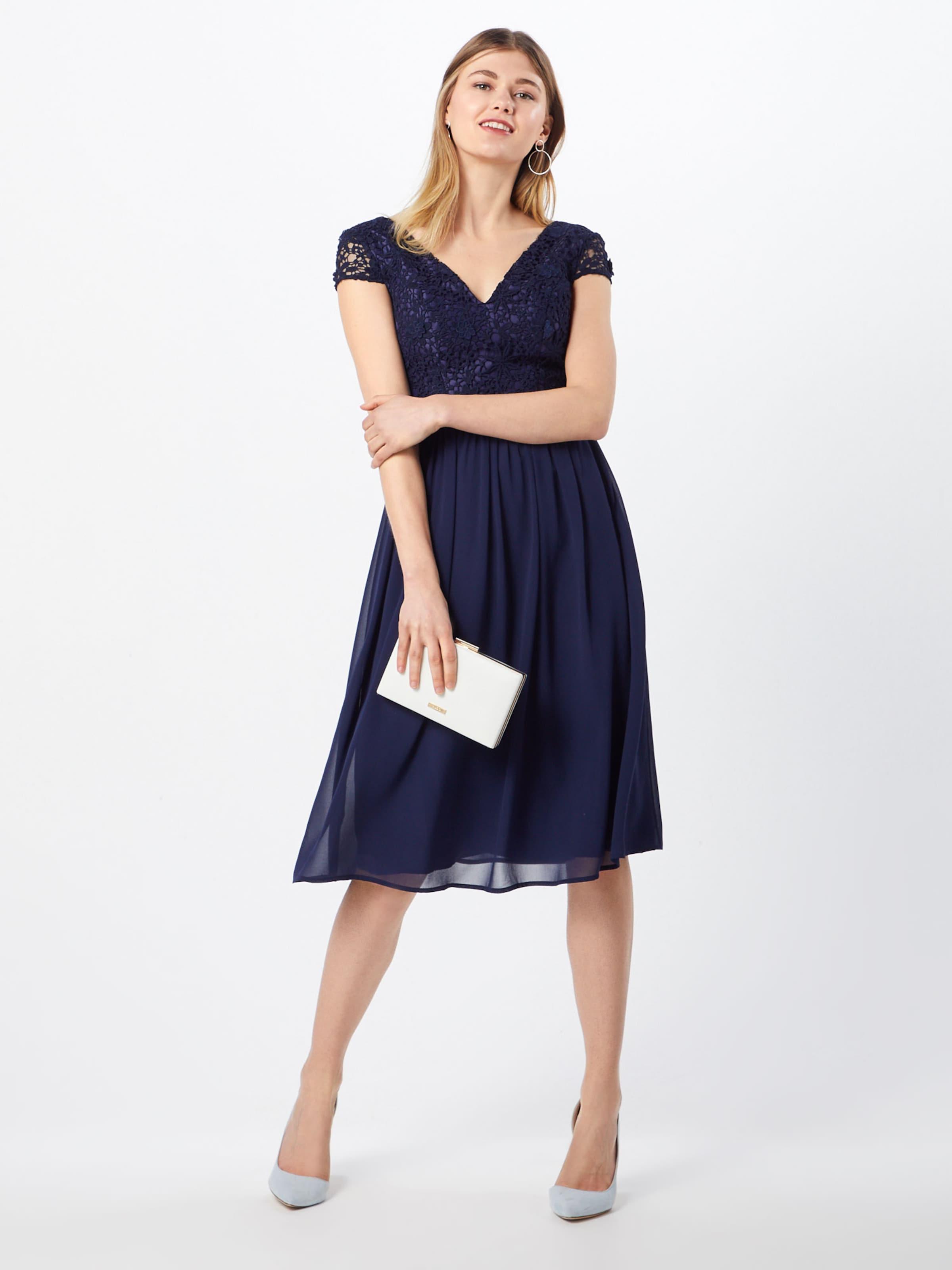 London Robe Soirée De Marine 'halsey' Bleu Chi En BoQreWCxd