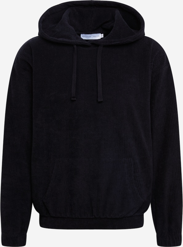 NU IN Sweatshirt 'Oversized Towelling Hoodie' in Schwarz