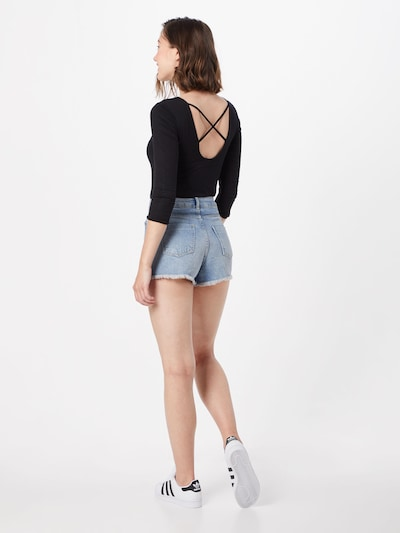 ABOUT YOU Jeans Shorts 'Melisa' in blue denim: Rückansicht