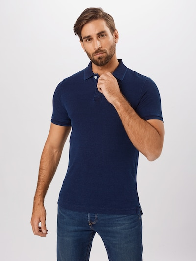 Superdry Poloshirt 'CLASSIC PIQUE S/S POLO' in dunkelblau: Frontalansicht