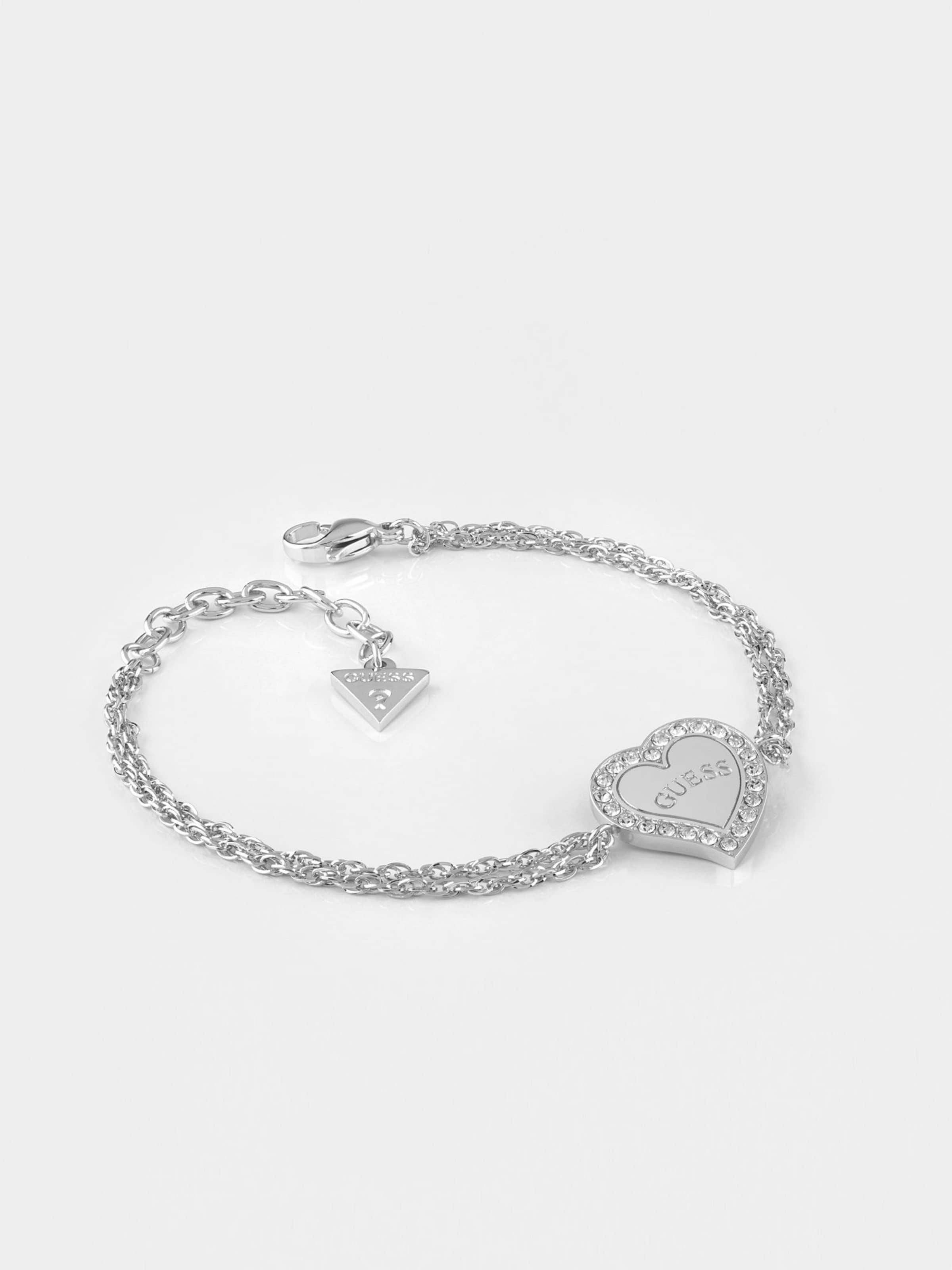 'heart Guess Warming' SilberTransparent Armband In 80nPkXNOw
