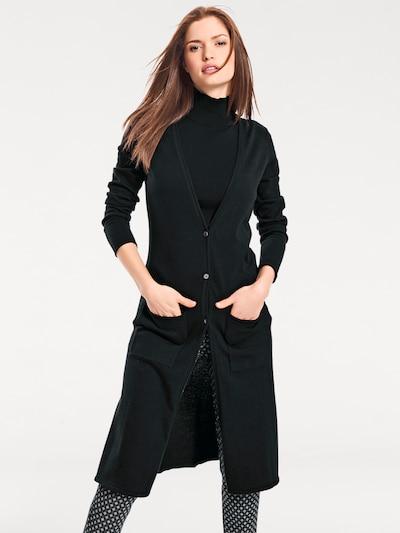 heine Longstrickjacke in schwarz, Modelansicht