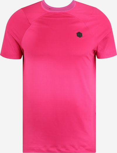 UNDER ARMOUR Sport-Shirt 'HG Rush Fitted' in pink / schwarz, Produktansicht