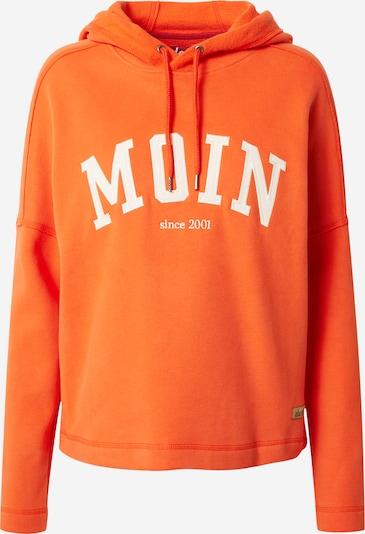 Derbe Sweatshirt in dunkelorange / weiß, Produktansicht