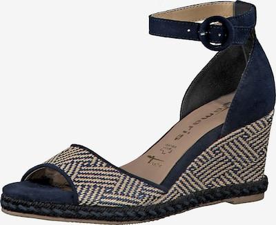 TAMARIS Sandalette in beige / kobaltblau: Frontalansicht