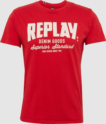 REPLAY Shirt in Rood