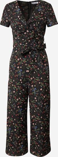 Unique21 Jumpsuit 'TWIST' in mischfarben / schwarz: Frontalansicht