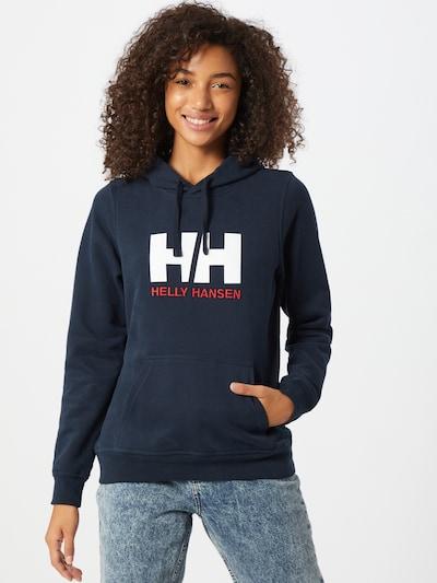 HELLY HANSEN Hoodie in kobaltblau / rot / weiß: Frontalansicht