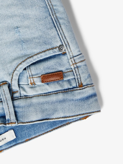 NAME IT Jeans in taubenblau: Frontalansicht