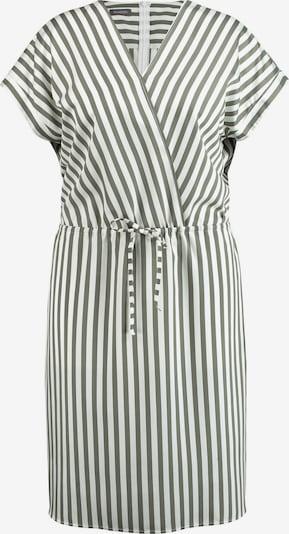 SAMOON Kleid Langarm kurz Sommerkleid mit Streifen-Dessin in grün / weiß, Produktansicht