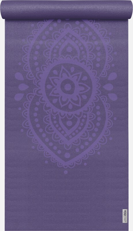 YOGISTAR.COM Yogamatte 'Basic Art Collection Ajna Chakra' in aubergine, Produktansicht