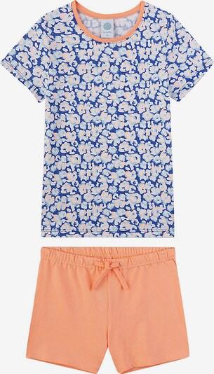 SANETTA Schlafanzug in blau / hellblau / orange, Produktansicht