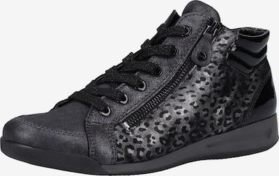 ARA Sneakers hoog in de kleur Grijs / Zwart, Productweergave