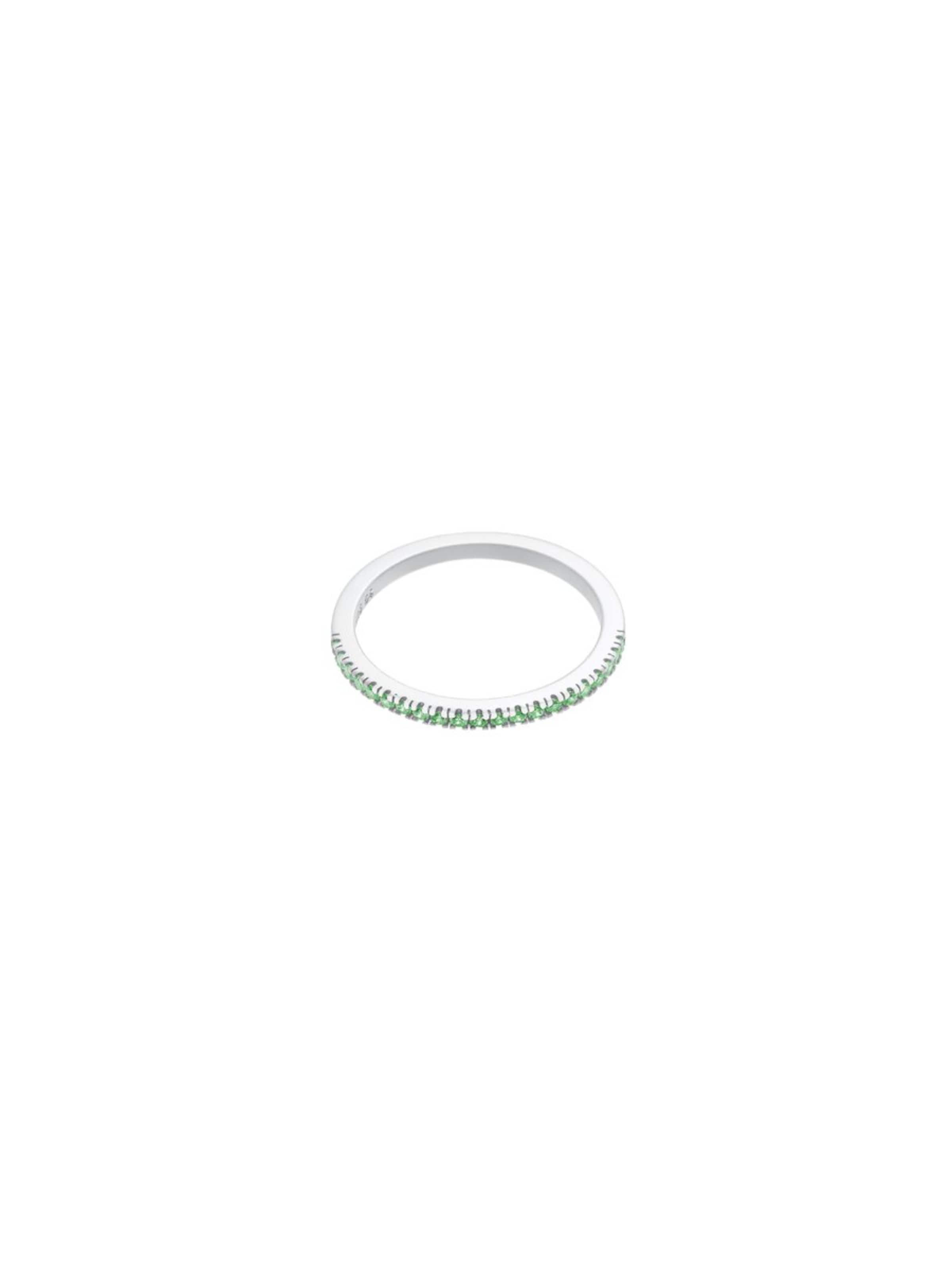 Vert Bague 'green Id Simplicity' En Fine ClairArgent A53Rj4L