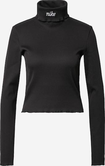Nike Sportswear T-shirt en noir / blanc: Vue de face