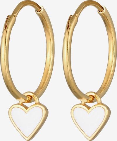 ELLI Ohrringe Creole, Herz, Ohrhänger in gold, Produktansicht