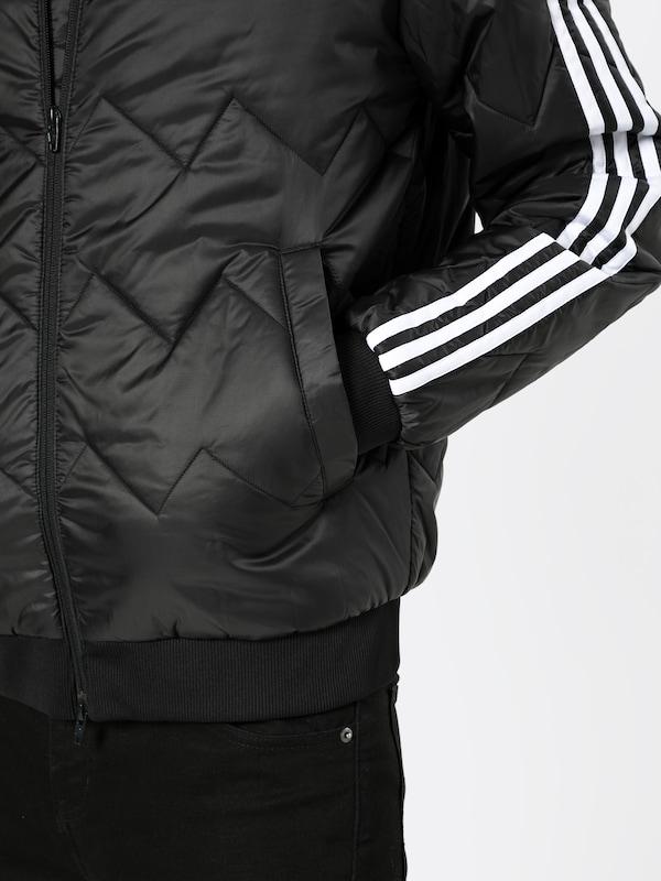 ADIDAS ORIGINALS Jacke 'SST Quilted' in schwarz weiß