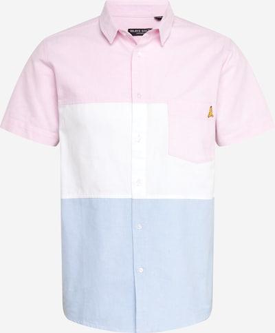BRAVE SOUL Hemd in hellblau / rosa / weiß, Produktansicht