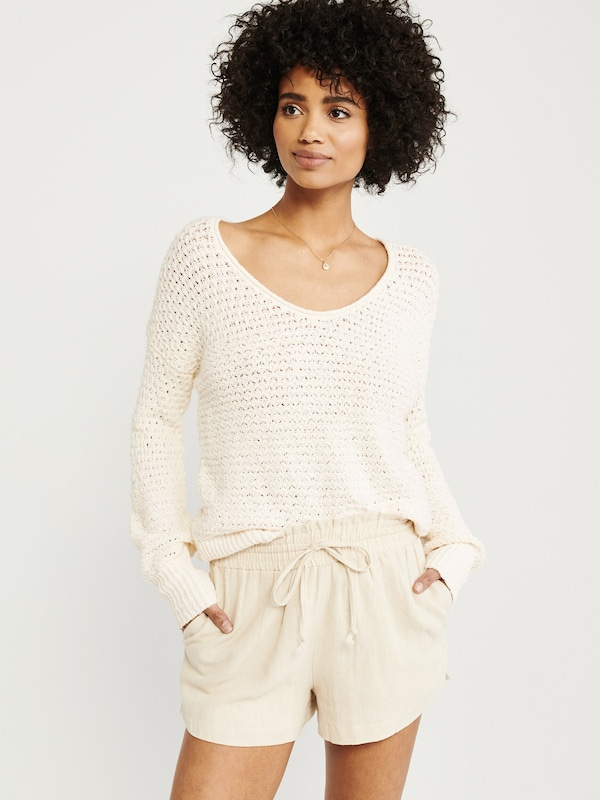 Abercrombie & Fitch Pullover in creme: Frontalansicht