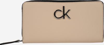 Calvin Klein Portemonnaie 'RE-LOCK ZIPAROUND LG' in sand, Produktansicht