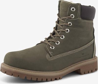 TOM TAILOR Shoes Boots in dunkelbraun / khaki, Produktansicht