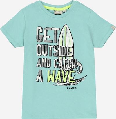 GARCIA T-Shirt in pastellblau / hellgrün / weiß, Produktansicht