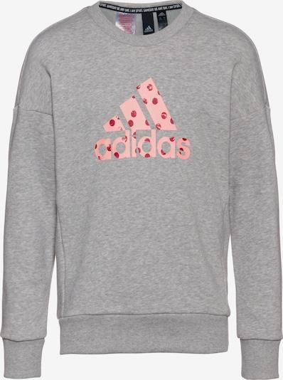 ADIDAS PERFORMANCE Sweatshirt 'YG MH Bos' in graumeliert / altrosa / dunkelrot, Produktansicht