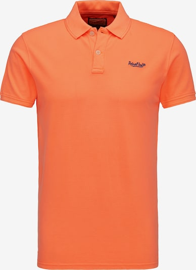 Petrol Industries Polo Shirt in hellorange: Frontalansicht