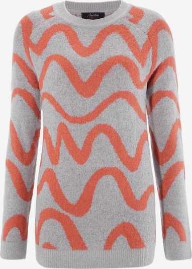 Aniston CASUAL Pullover in grau / rot, Produktansicht