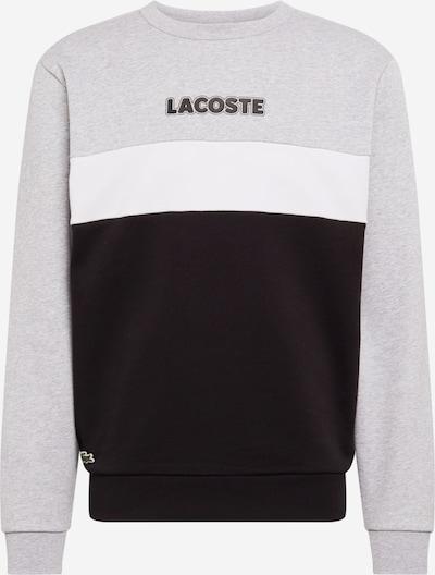 LACOSTE Majica | srebrno-siva / črna / bela barva: Frontalni pogled