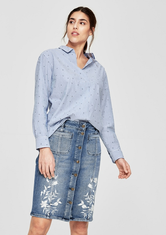 s.Oliver RED LABEL Jeansrock mit Embroidery