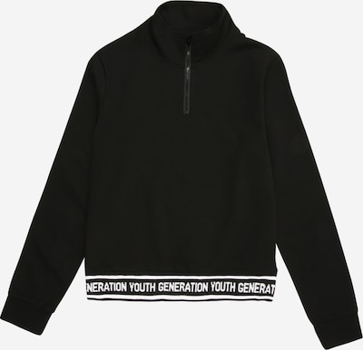 NAME IT Sweatshirt in schwarz / weiß, Produktansicht