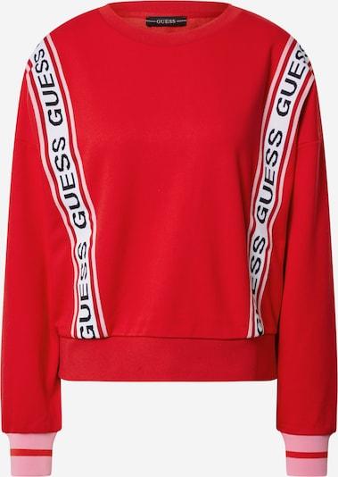 GUESS Sweat-shirt 'Clemence' en rouge / noir / blanc: Vue de face