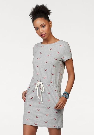 KangaROOS Shirtkleid in graumeliert / rot / weiß, Modelansicht
