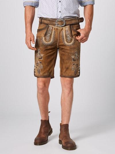 MARJO Pantalon folklorique 'Henry inkl. Gürtel' en marron: Vue de face