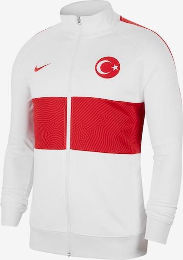 NIKE Trainingsjacke 'Türkei 2021' in rot / naturweiß, Produktansicht