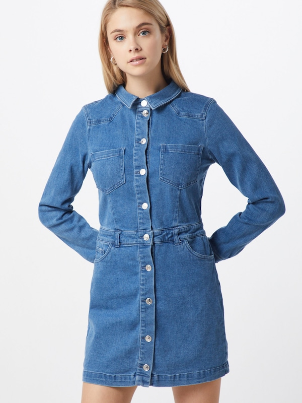ONLY Kleid in blue denim, Modelansicht