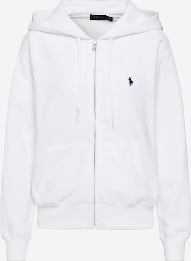 POLO RALPH LAUREN Sweatjacka 'LS ZIP HD-LONG SLEEVE-KNIT' i vit, Produktvy