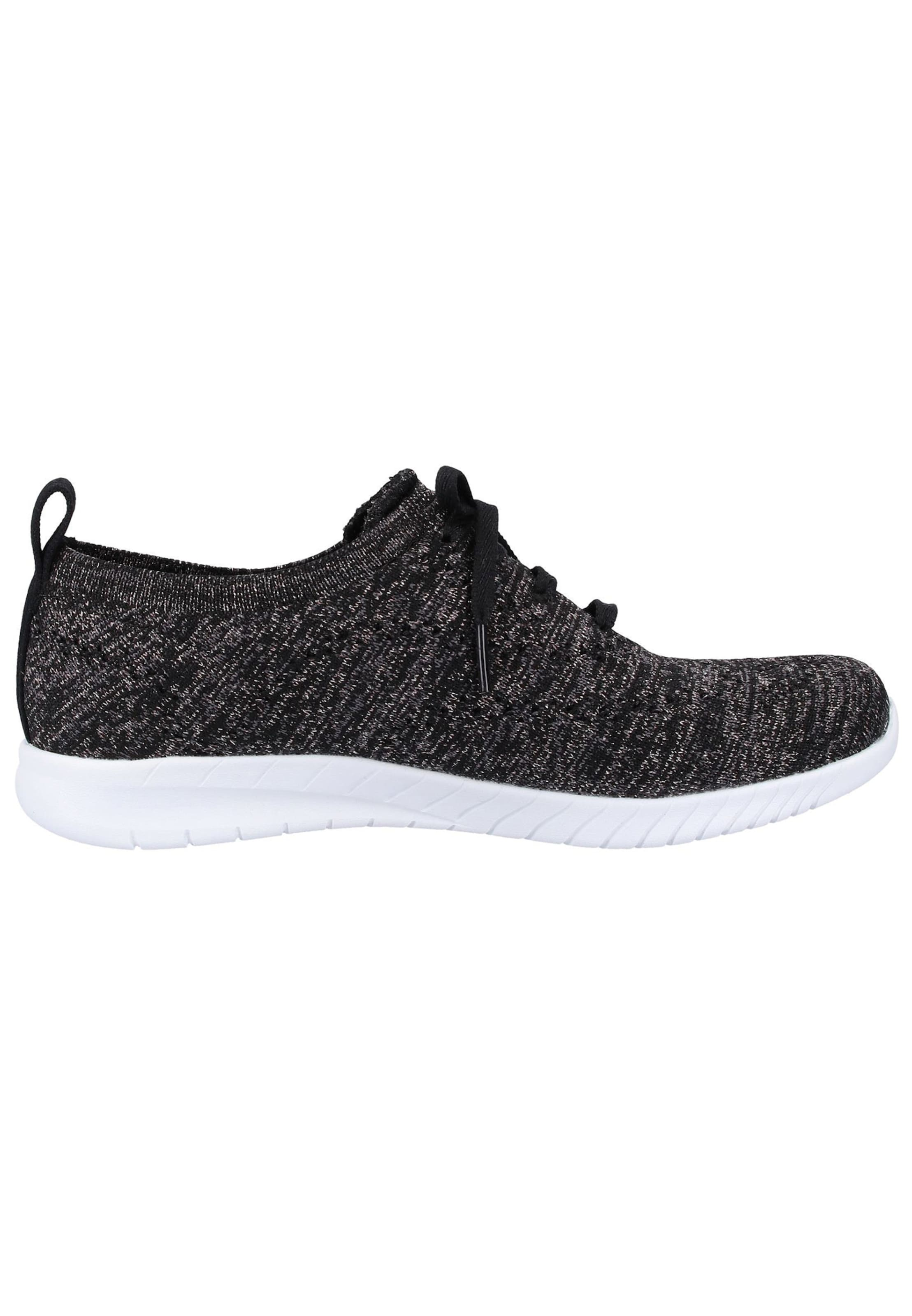 Noir Basses En Skechers Baskets Chiné mwOvNn0y8P
