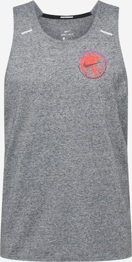 NIKE Sportshirt 'Nike Rise 365 Future Fast' in grau / lila / orangerot, Produktansicht