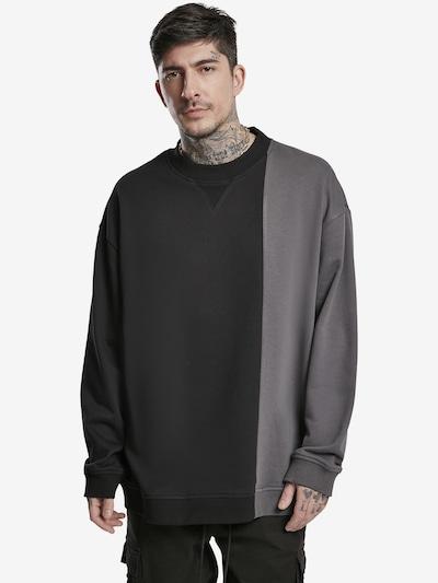 Urban Classics Sweatshirt in dunkelgrau / schwarz: Frontalansicht