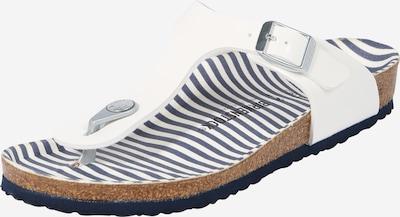 BIRKENSTOCK Chaussures ouvertes 'Gizeh' en blanc, Vue avec produit