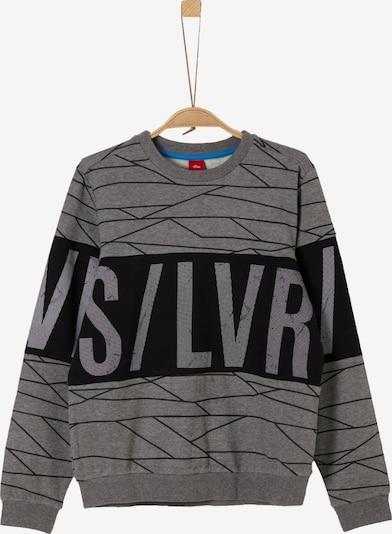 s.Oliver Sweatshirt in graumeliert / schwarz, Produktansicht